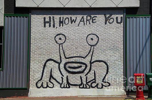 Herronstock Prints - Hi, How Are You Mural, Austin Landmark, UT Drag, Austin, Texas