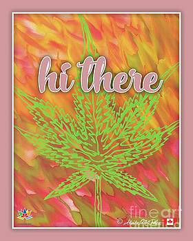 Hi There Pink Border by Sheila McPhee