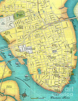 Dale Powell - Hiatoric Downtown Charleston Map