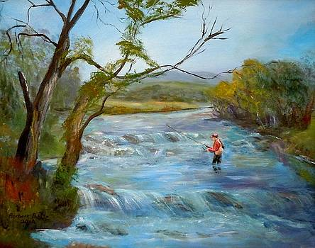 Hiawassee River Fly Fishing by Barbara Pirkle