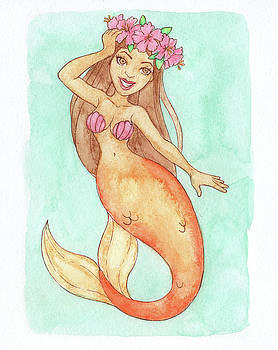 Hibiscus Mermaid - MerMonday July 16th 2018 by Armando Elizondo