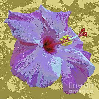 Hibiscus Pop Art by Jean luc Comperat