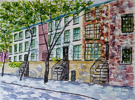 Hicks Street in Brooklyn Heights by Lucille Femine