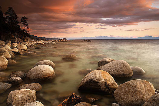 Hidden Beach at Sunset by Eric Foltz