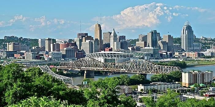 High Above Cincinnati in Panoramic Form by Frozen in Time Fine Art Photography