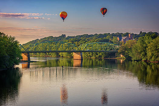 High Above The Androscoggin by Rick Berk