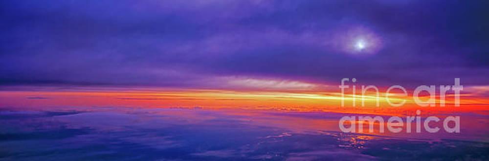 high airliner clouds   sunrise east florida coast Atlantic ocean by Tom Jelen