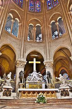 High Alter Notre Dame Cathedral Paris France by Kim Bemis