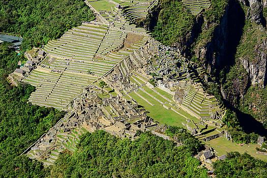 Oscar Gutierrez - High Angle View of Machu Picchu