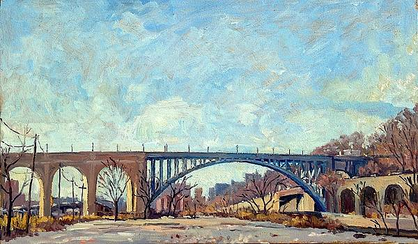 High Bridge Winter LIght NYC by Thor Wickstrom