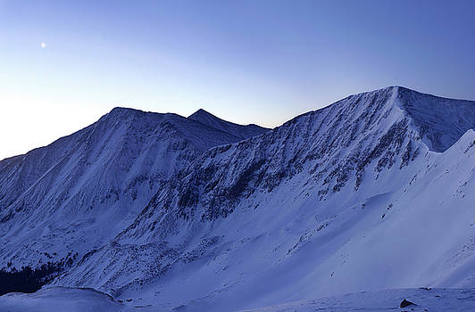 High Country Twilight Panorama - Triptych Left by Mike Berenson