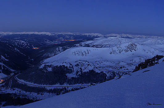 High Country Twilight Panorama - Triptych Right by Mike Berenson