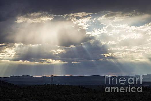 High Desert Sunrays by Hugh Stickney