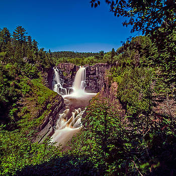 High Falls At Grand Portage State Park by Lonnie Paulson