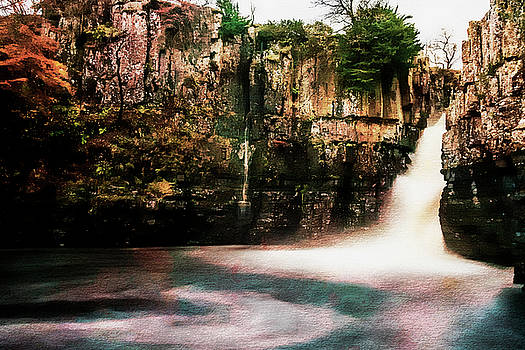 High Force with a Watercolour effect. by Paul Cullen