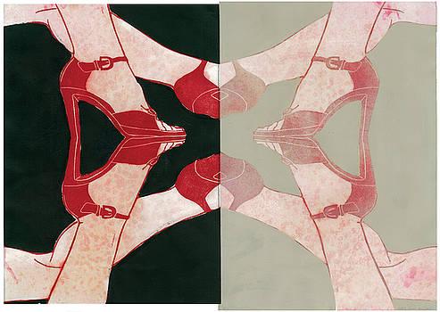 high heels mirror I by Judith Sturm