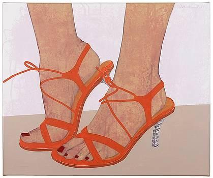 High heels orange III by Judith Sturm