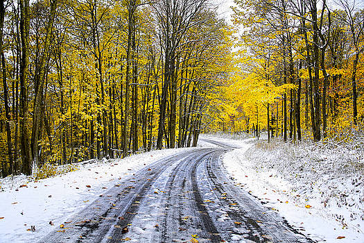 High Knob Road in Winter by Earl Carter