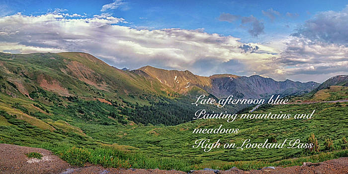 High on Loveland Pass by Tony Lazzari
