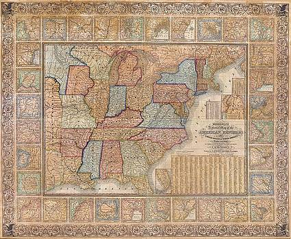 Larry Lamb - High res map USA 1845 up to 60 inches wide
