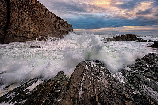 High Tide at Bald Head Cliff by Rick Berk