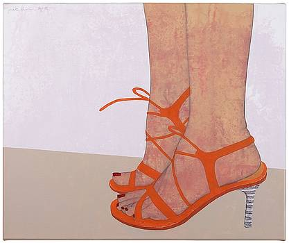 Highheels orange by Judith Sturm