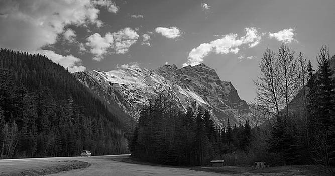 Highway 1 Rocky Mountains BC by Gregory Varano