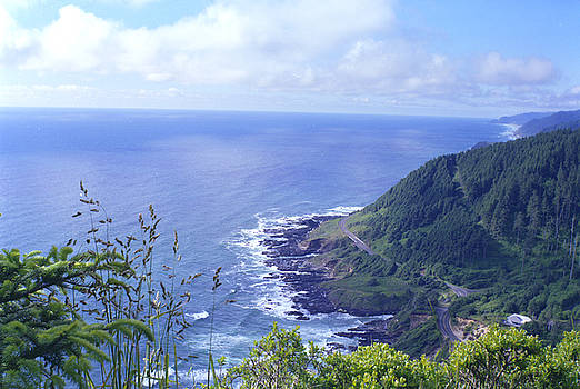 Highway 101 Oregon by Rex E Ater