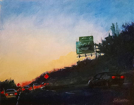 Highway at Dusk No. 1 by Peter Salwen