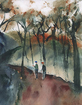 Hikers by Frank Bright