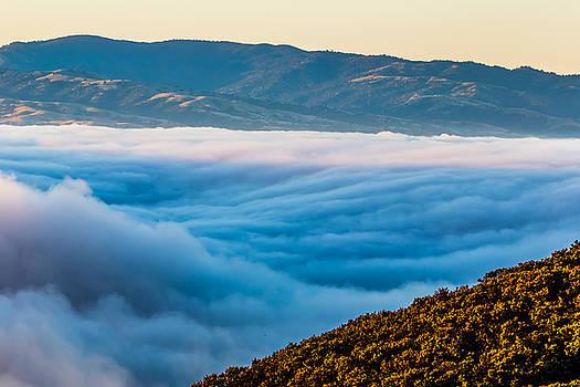 Marc Crumpler - hiking above fog at los vaqueros