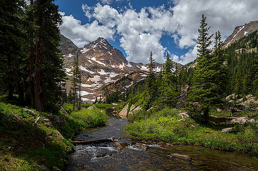 Hiking into a High Alpine Lake by Michael J Bauer
