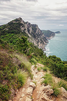 Hiking to Portovenere Cinque Terre Italy by Joan Carroll