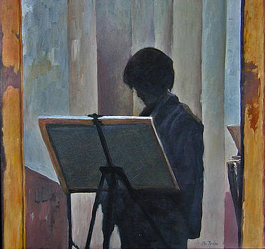 Hillary at the Easel by Don Perino