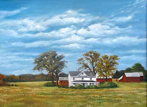 Hilldrup Farm Circa 1900 by Richard Klingbeil