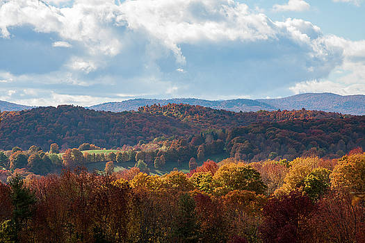 Hills of Pomfret Vermont by Jeff Folger