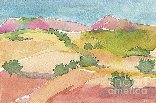 Hills of Santa Fe by Sheila Golden