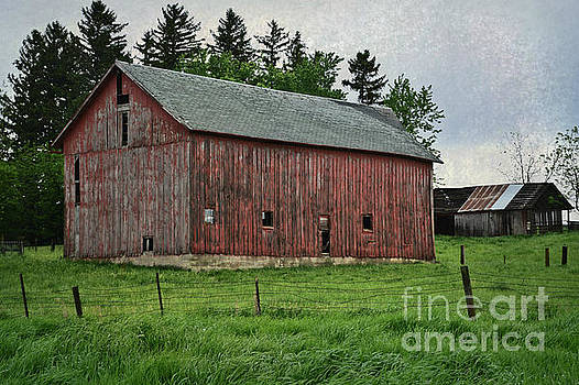 Hillside Barn by Kathy M Krause