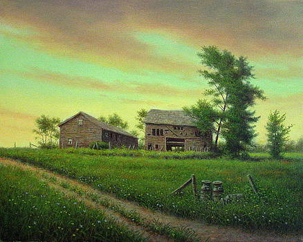 Hillside Barns by Barry DeBaun