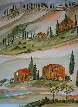 Hillside Italy by K Hoover