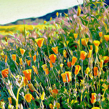 Glenn McCarthy Art - Hillside Poppies - Impressions Three