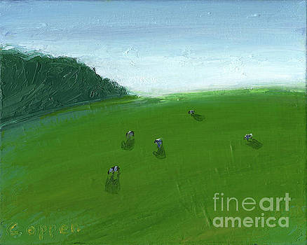 HIllside Vista with Cows by Robert Coppen