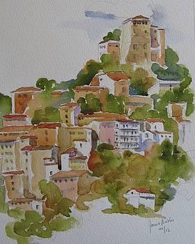 Hilltop villege, Umbria by Janet Butler