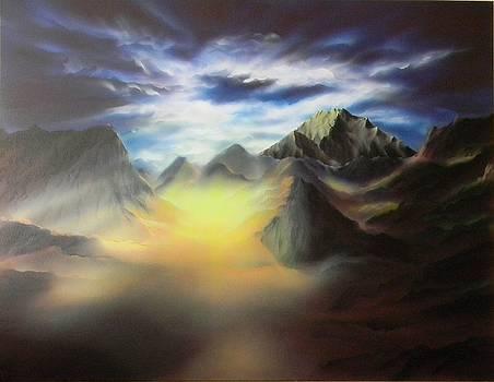 Himalaya Sewalungma Mountain that we offer Greetings to by Alexander Bukhanov