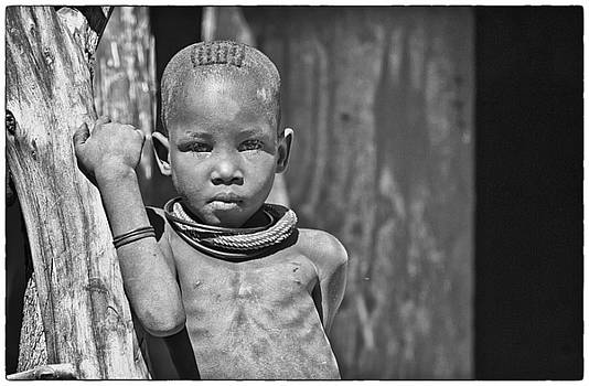 Curious Himba boy by Sandy Schepis