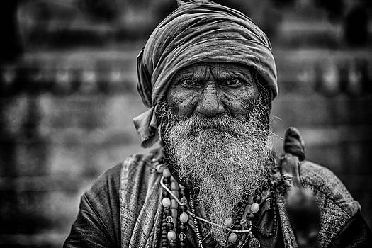 Hindu Holy Man 1 by David Longstreath