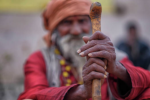 hindu Holy Man Hands by David Longstreath