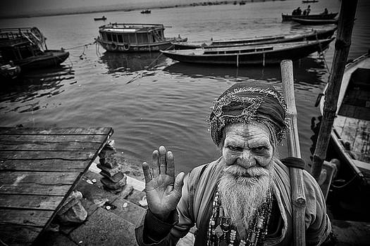 Hindu Holy Man Hello by David Longstreath