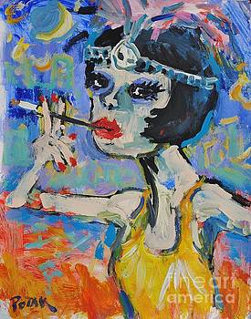 Hipster Roaring Twenties Lady by Russ Potak