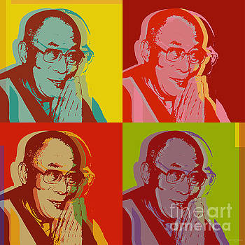 His Holiness the Dalai Lama of Tibet by Jean luc Comperat